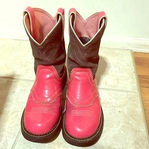 Womens pink cowboy boots